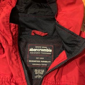 Abercrombie and Fitch Red Windbreaker Large